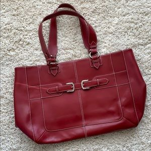 86896324a Wilsons Leather Bags - Red Wilsons Leather Computer Tote Bag